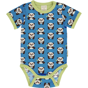 Maxomorra Short Sleeve Body - Playful Panda