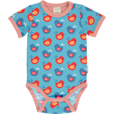 Maxomorra Short Sleeve Body - Bright Birds