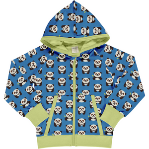 Maxomorra Hooded Cardigan - Playful Panda