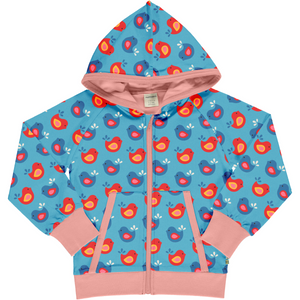 Maxomorra Hooded Cardigan - Bright Birds