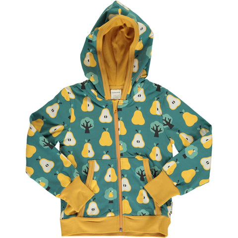 Maxomorra Hooded Cardigan - Golden Pear