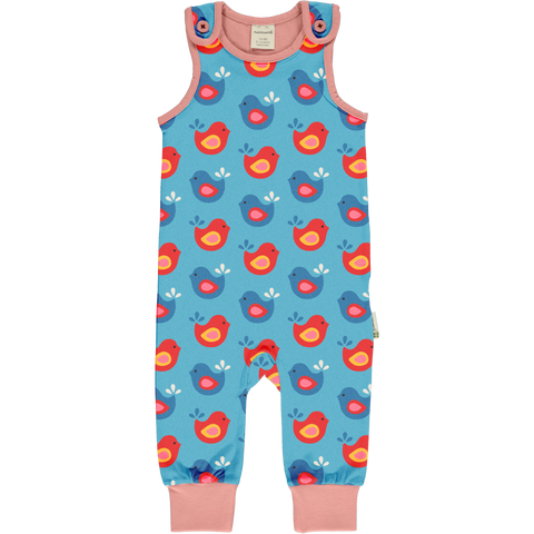 Maxomorra Dungarees - Bright Birds