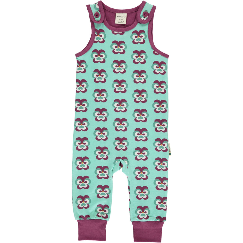 Maxomorra Dungarees - Purple Pansy