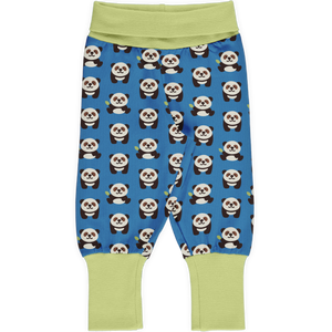 Maxomorra Rib Pants - Playful Panda