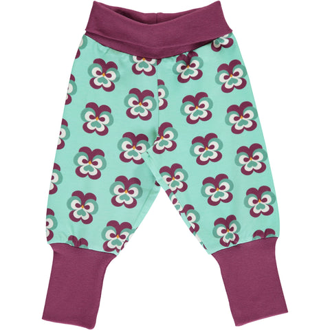 Maxomorra Rib Pants - Purple Pansy