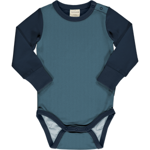 Maxomorra Long Sleeve Body - Navy / Sky