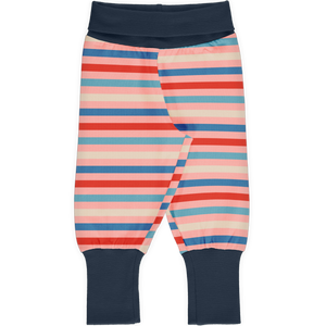 Maxomorra Rib Pants - Blossom Stripe