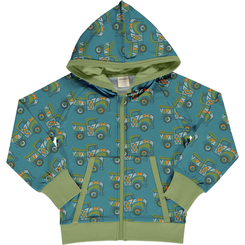 Maxomorra Hooded Cardigan - Painted Truck
