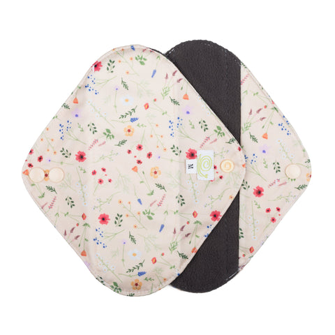 Baba & Boo Reusable Medium Sanitary Pads - Wildflowers - 2 Pack - Tilly & Jasper