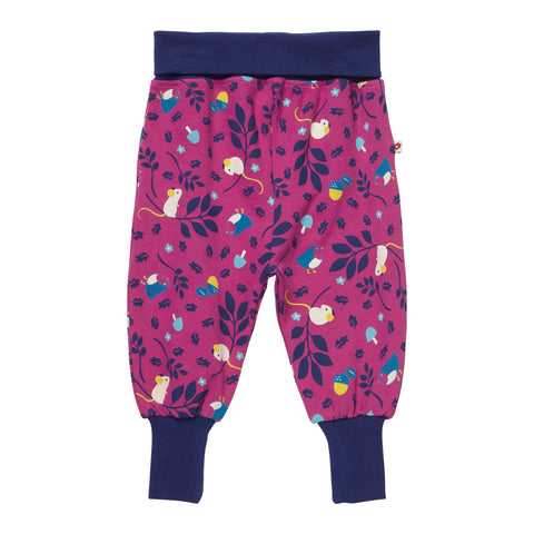 Piccalilly - Pull-Up Trousers - Woodland Mouse - Organic Cotton