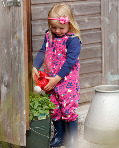 Image of Piccalilly -  Dungarees - Mouse - Organic Cotton