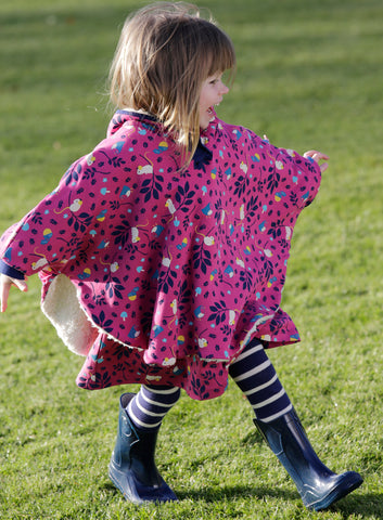 Piccalilly -  Poncho - Mouse - Organic Cotton