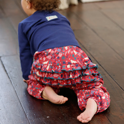 Image of Ruffle Trousers - Woodland Bunny