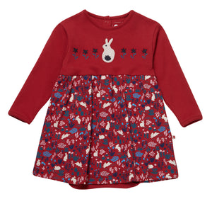 Piccalilly Baby Body Dress - Woodland Bunny