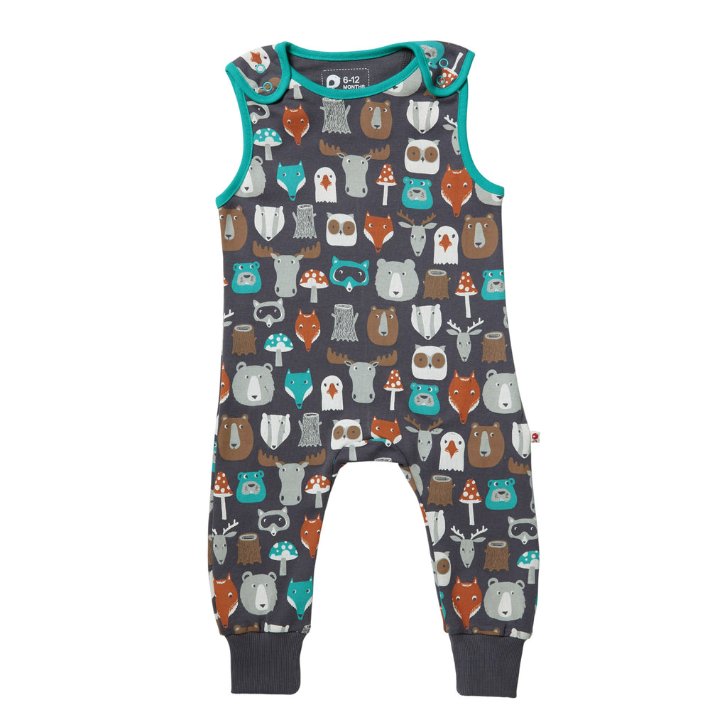 Piccalilly -  Dungarees  - Forest Friends - Organic Cotton