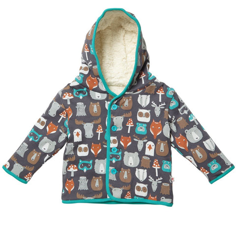 Piccalilly Reversible Jacket  - Forest Friends