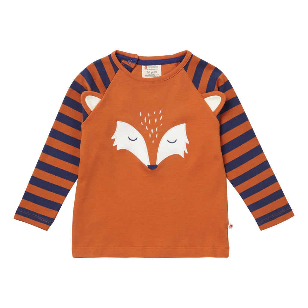 Piccalilly -  Raglan Top - Fox Face - Organic Cotton