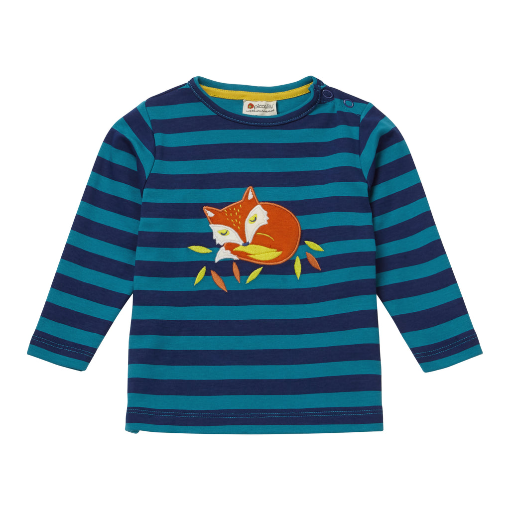Piccalilly -  Top - Stripy Fox - Organic Cotton