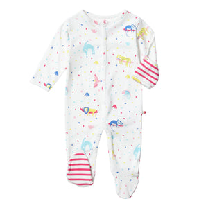 Piccalilly Footed Sleepsuit - Rainforest