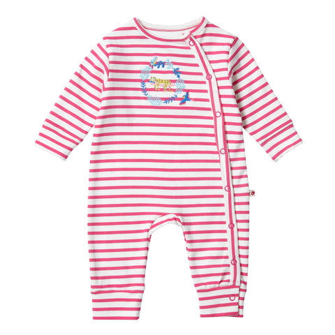 Image of Piccalilly Wrapover Romper - Rainforest