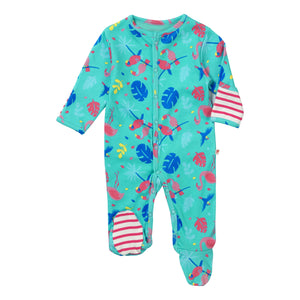 Piccalilly Footed Sleepsuit - Tropical