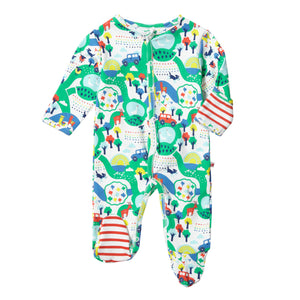 Piccalilly Footed Sleepsuit - Malham Farm