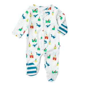Piccalilly Footed Sleepsuit - Magic Dragon
