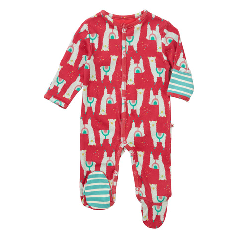 Piccalilly Footed Sleepsuit - Alpaca