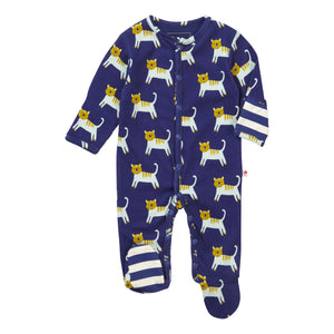 Piccalilly Footed Sleepsuit - Hello Tiger