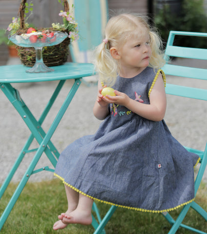 Image of Piccalilly Chambray Baby Dress - Tropical