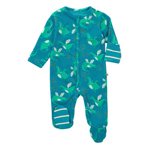 Piccalilly Footed Sleepsuit - Dragon