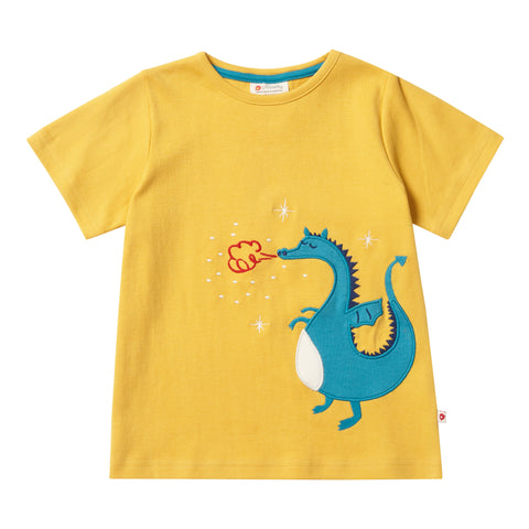 Piccalilly Applique T-Shirt - Dragon