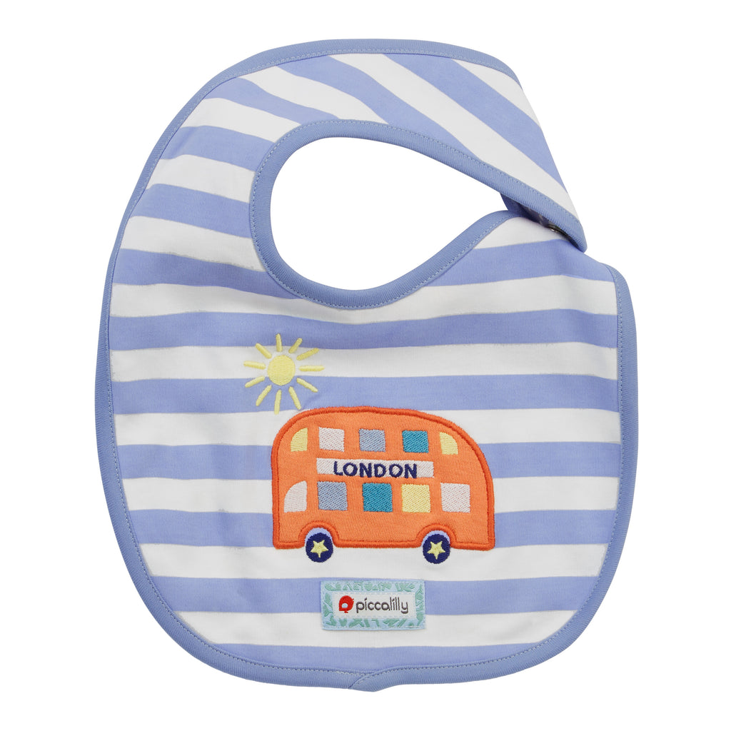 Piccalilly Reversible Baby Bib - Little London
