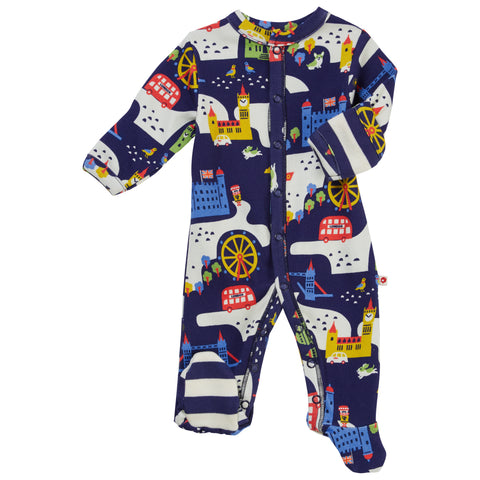 Piccalilly Footed Sleepsuit - London