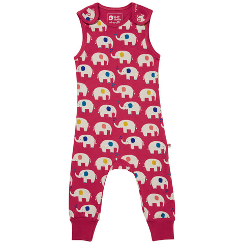 Image of Piccalilly Dungarees - Elephant
