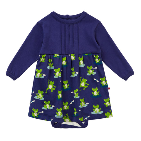 Piccalilly Baby Body Dress - Frog