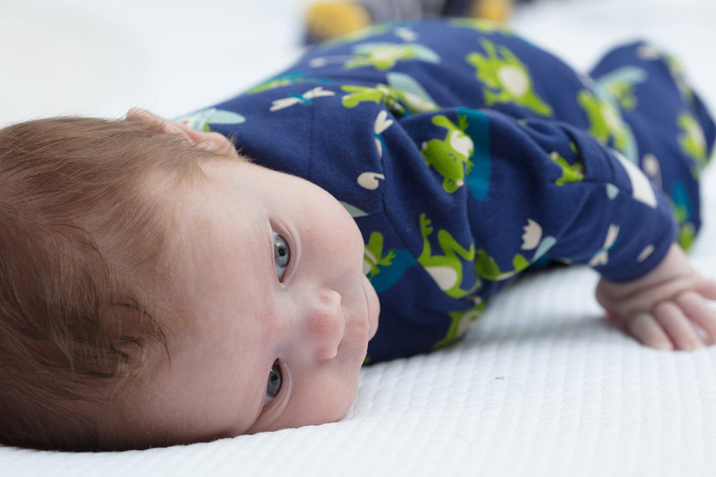 Piccalilly Footed Sleepsuit - Frog