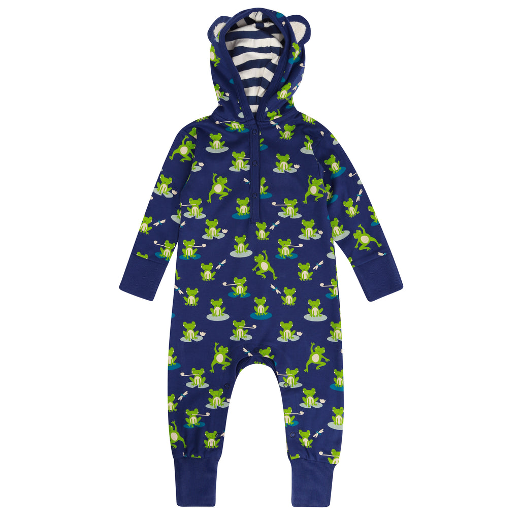 Piccalilly Hooded Playsuit - Frog