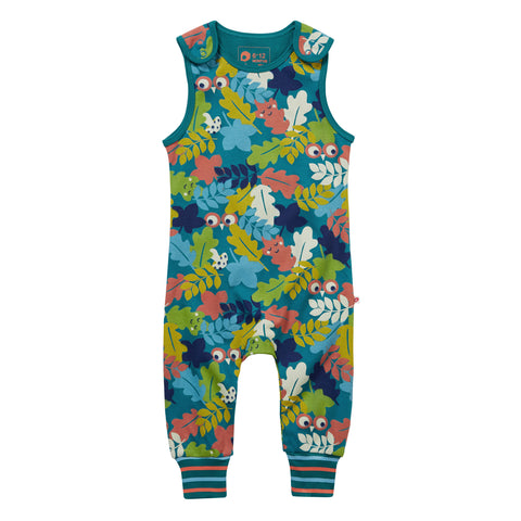 Image of Piccalilly Dungarees - Leafy Camo