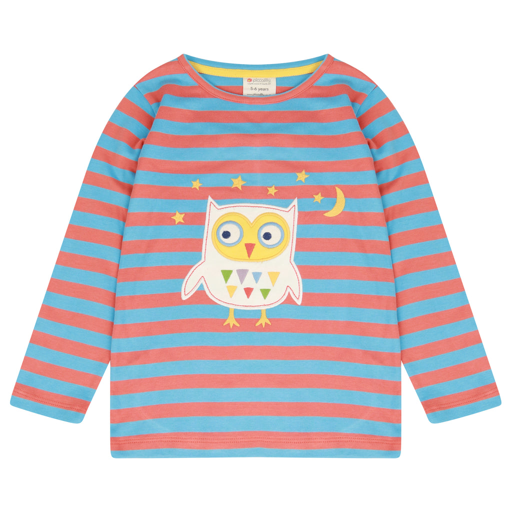 Piccalilly Top - Stripy Owl
