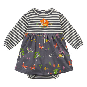 Piccalilly Baby Body Dress - Winter Woodland