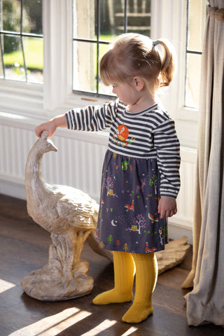 Image of Piccalilly Baby Body Dress - Winter Woodland