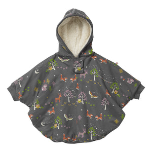 Piccalilly Kids Poncho - Winter Woodland