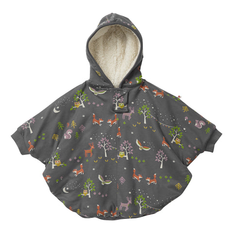 Image of Piccalilly Kids Poncho - Winter Woodland