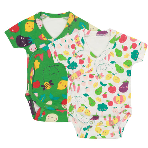 Piccalilly 2 Pack Baby Bodysuits - Grow Your Own
