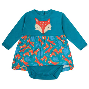 Piccalilly Baby Body Dress - Foxes