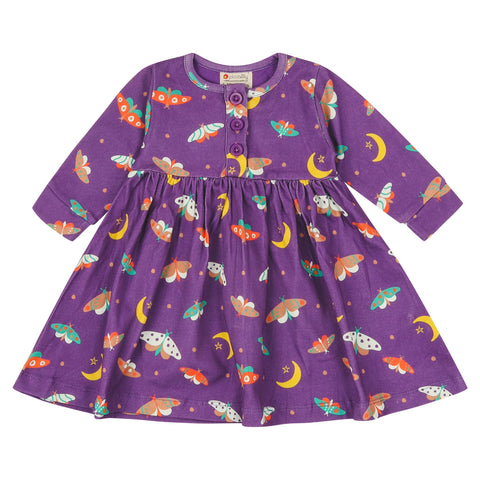 Image of Piccalilly Button Dress - Moonlight Moth