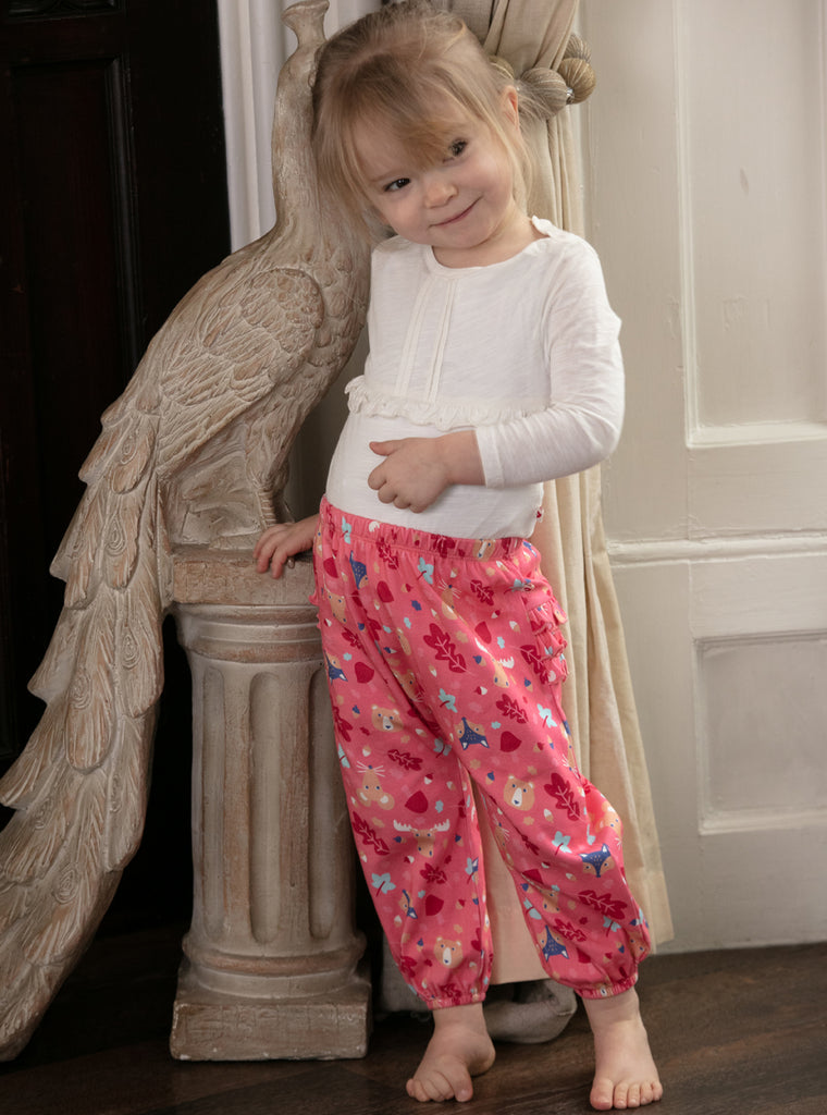 Piccalilly Ruffle Bum Trousers - Forest Fairytale
