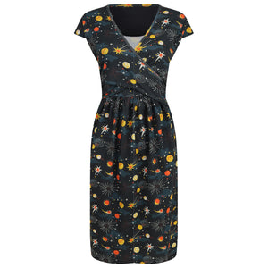 Piccalilly Adult Wrap Dress - Solar Space