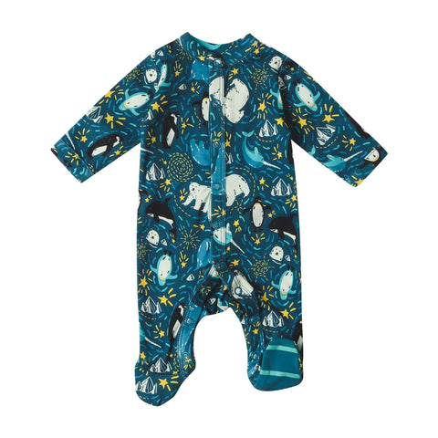 Piccalilly Footed Sleepsuit - Arctic